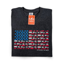Load image into Gallery viewer, Copy of LIFE IS BETTER AT THE CAMPSITE SHIRT- PATRIOTIC- XL