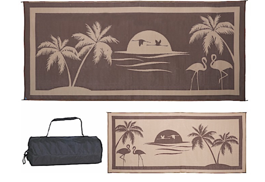 Ming's Mark Patio Mat- At the Beach 8' X 18'