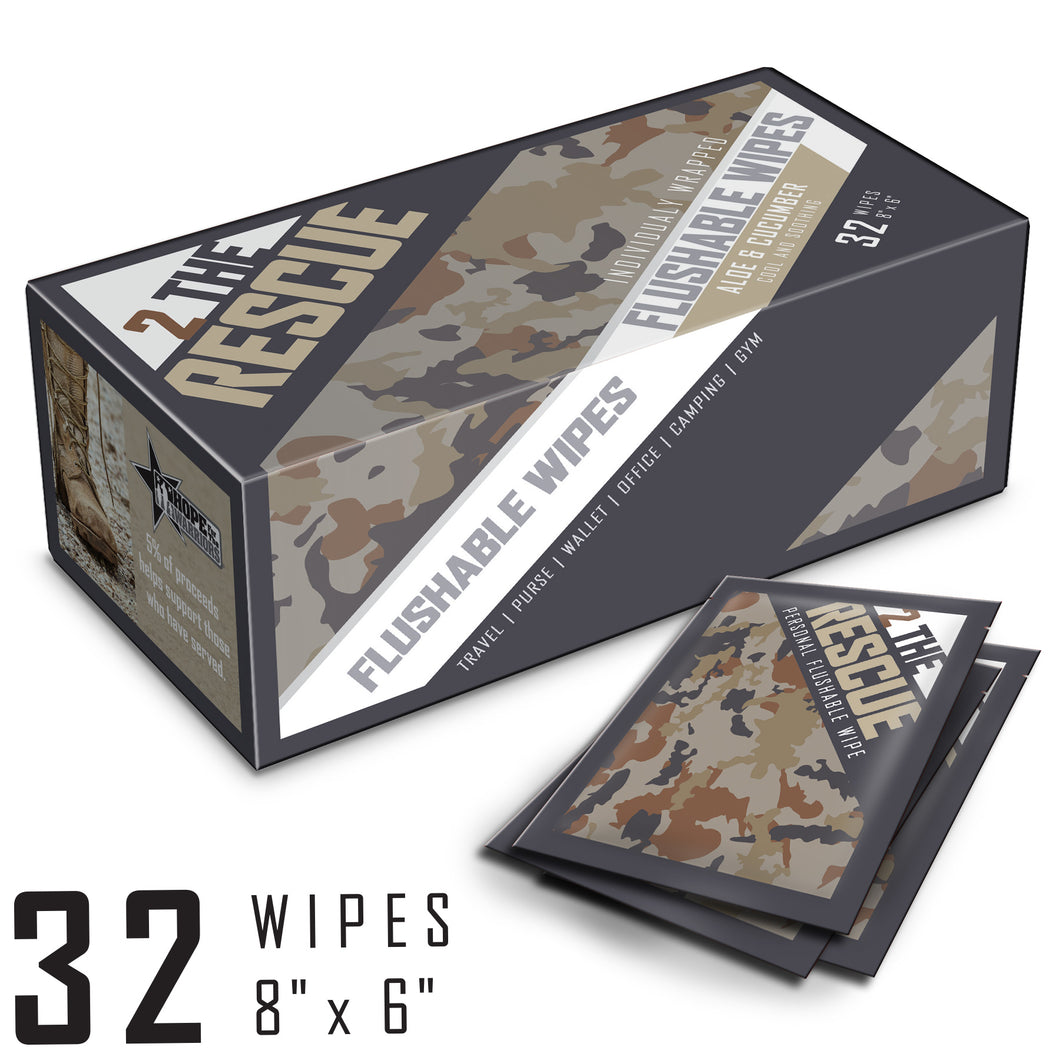 2 the Rescue Personal Hygiene Wipes [32 Count] - Men's
