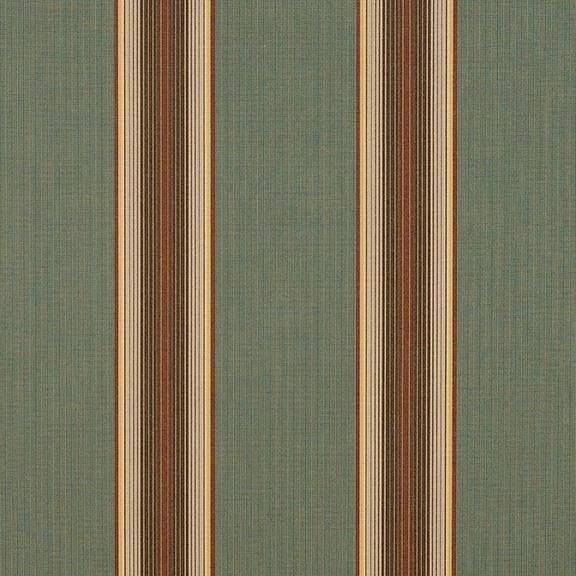 "Sunbrella 4949 - 46"" Forest Vintage Bar Stripe"