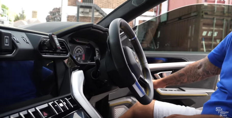 Yianni From Yiannimize Using Our Phone Mounts In His Brand New Lamborghini Urus