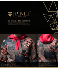 PINLI Chinese Element Printed Hoodie By: Victor Vanquish