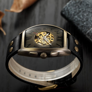 SHENHUA Transparent Automatic Mechanical Skeleton Watch By: Victor Vanquish