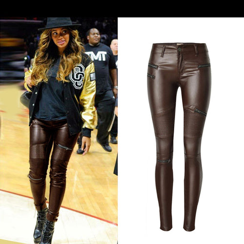 BB Leather Pencil Pants Motorcycle Trousers By: Vicki Vanquish
