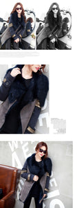 SAIMISHI Faux Fur Single Breasted Casual Coat By: Victor Vanquish