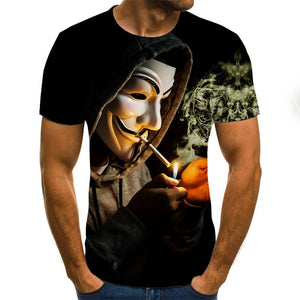 Anonymous 3D Printed Men T Shirts By: Victor Vanquish