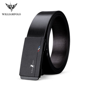 William Polo Genuine Leather Automatic Buckle Belt By: Victor Vanquish