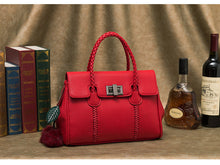ESUFEIR Vintage Red Genuine Leather Handbag By: Victor Vanquish