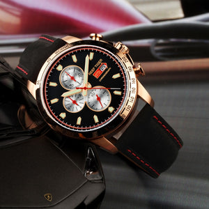 Reef Tiger/RT Italian  Leather Chronograph Quartz By: Victor Vanquish
