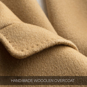 FINCATI Wool & Cashmere Hand-Made Edge Turn-Down Coat By: Victor Vanquish