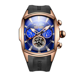 Reef Tiger/RT Blue Dial Mechanical Tourbillon Watches By: Victor Vanquish