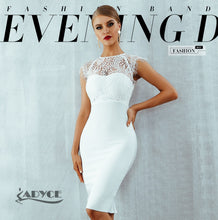 ADYCE Sexy White/ Black Lace Evening Party Dress By: Vicki Vanquish
