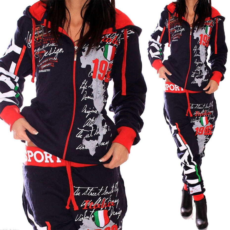 ZOGAA ITALY Two Piece Hooded Sweatshirt and Pants Sets By: Vicki Vanquish
