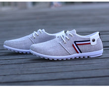 QFFAZ Men Canvas Yacht Loafer's By: Victor Vanquish