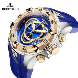 Reef Tiger/RT Waterproof Blue Chronograph Watch By: Victor Vanquish