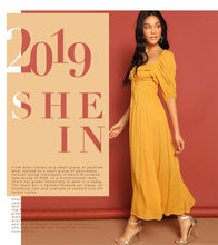 SHEIN Ginger Party Knot Split Dress By: Vicki Vanquish