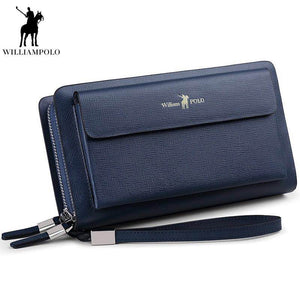 William Polo Blue Genuine Leather Men Loft Bags By: Victor Vanquish