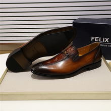 FELIX CHU Hand-painted Genuine Leather Loafer By: Victor Vanquish
