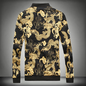 SHANBO Dragon Embroidery Mens Zip up. By: Victor Vanquish