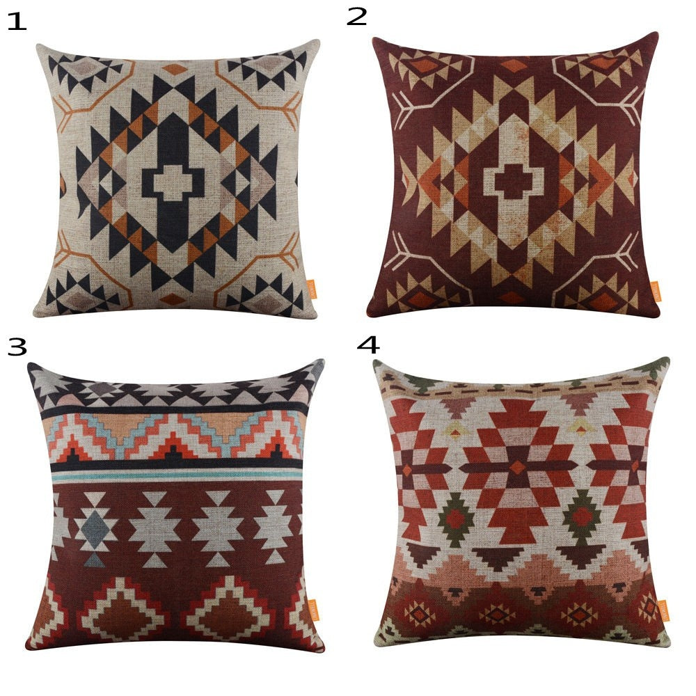 Aztec Geometric Pillow Cover - windypebble