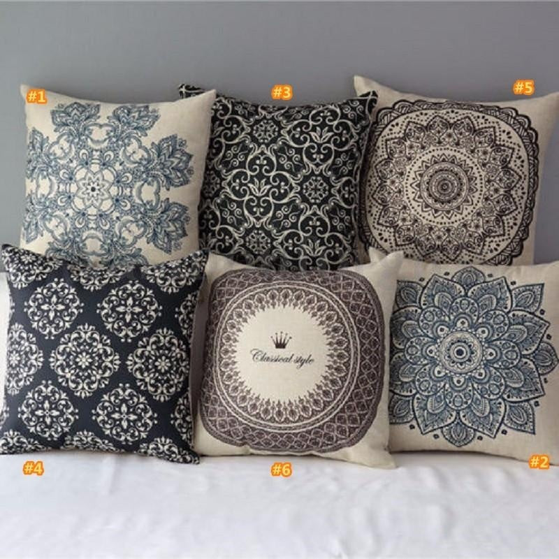 Floral Decorative Pillow Cover - windypebble