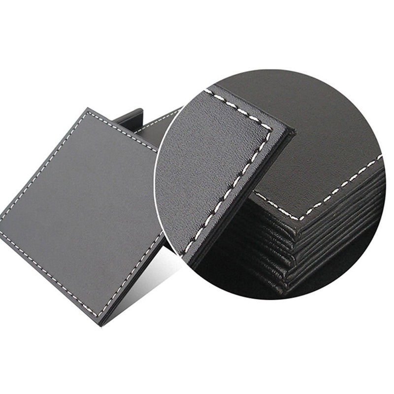 Square Leather Coasters - Set of 6 - windypebble