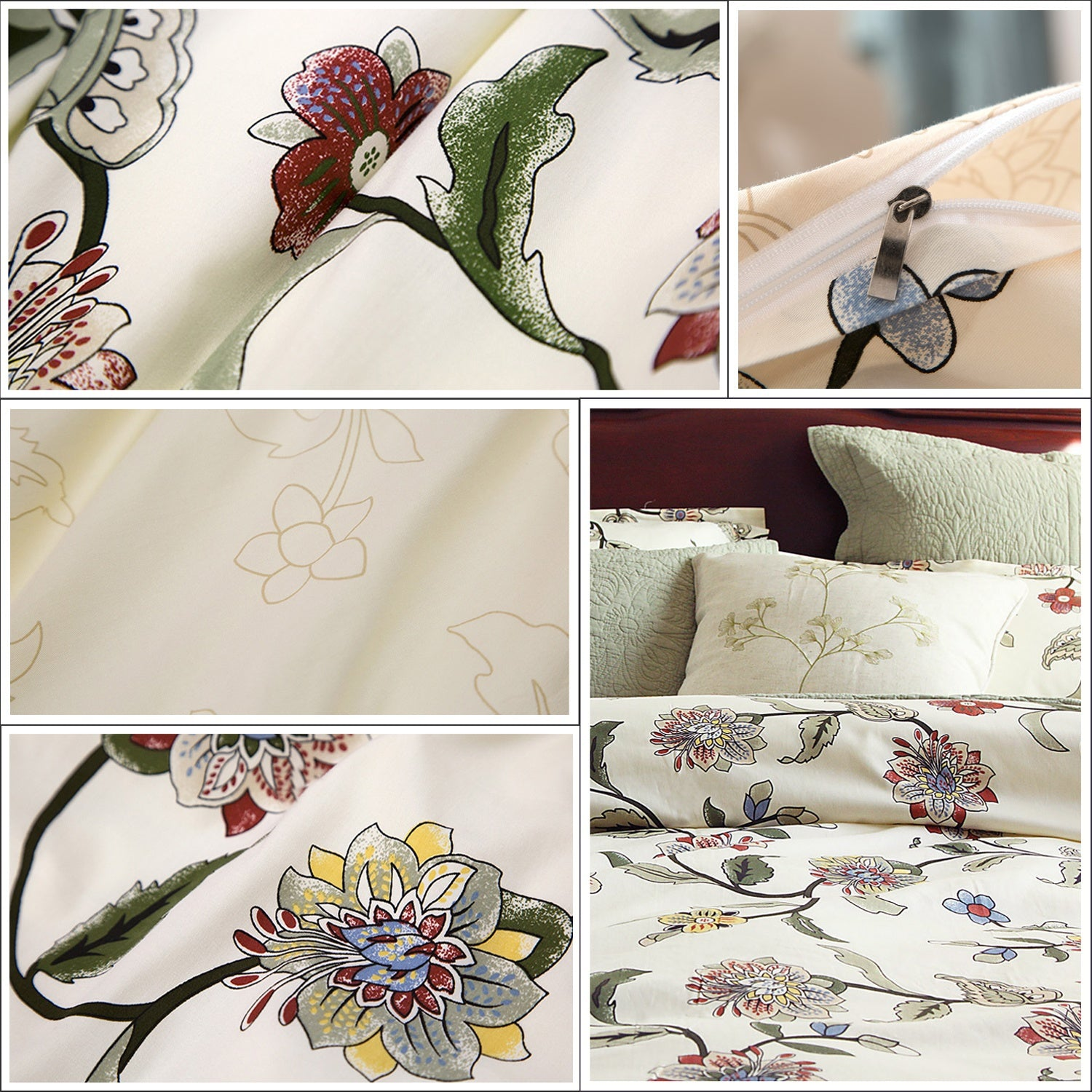 Elegant Floral Cotton Twim Bedding Set - windypebble
