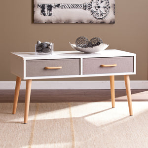White Double Drawer Table - windypebble