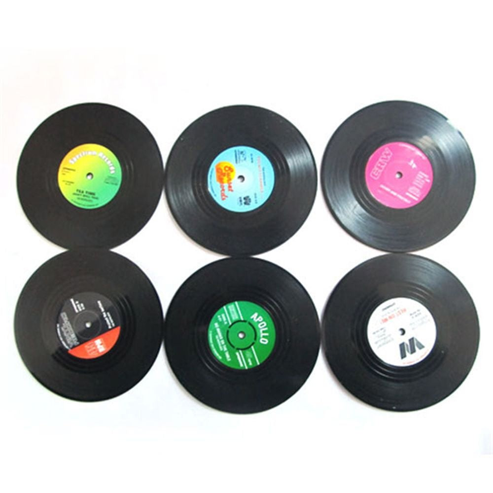 Cute Vinyl Coasters - Set of 6 - windypebble
