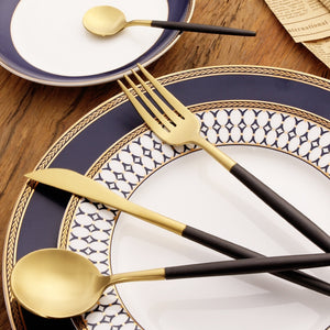 Sleek Stainless Steel Dinnerware Set - windypebble