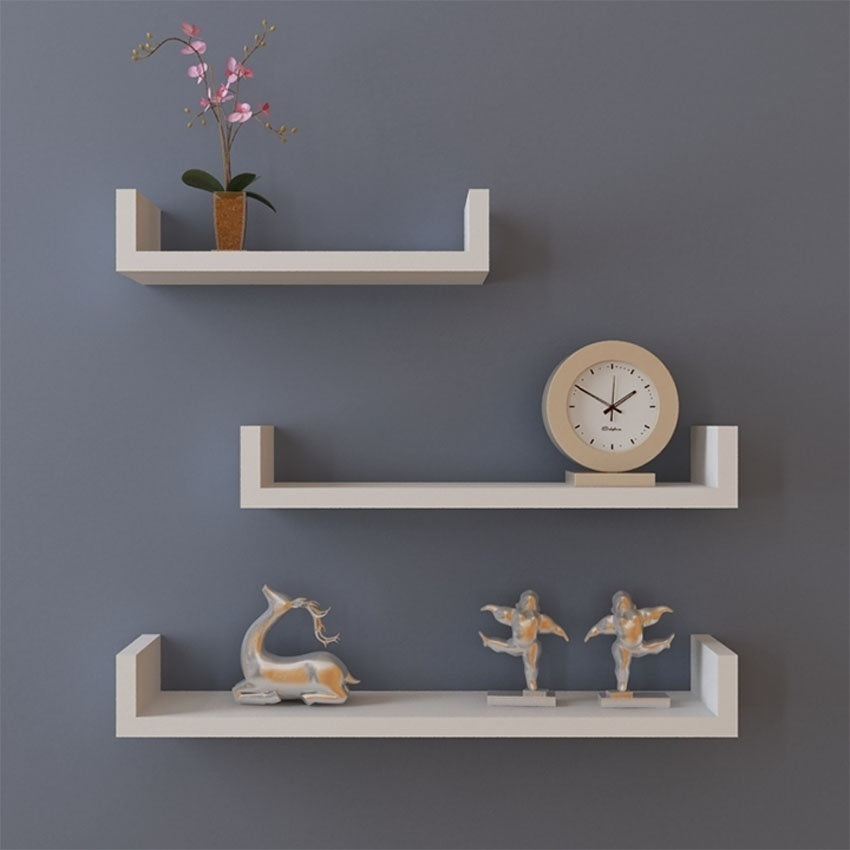 'U' Floating Wall Shelves - windypebble