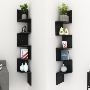 5 Tier Corner Floating Shelves - windypebble