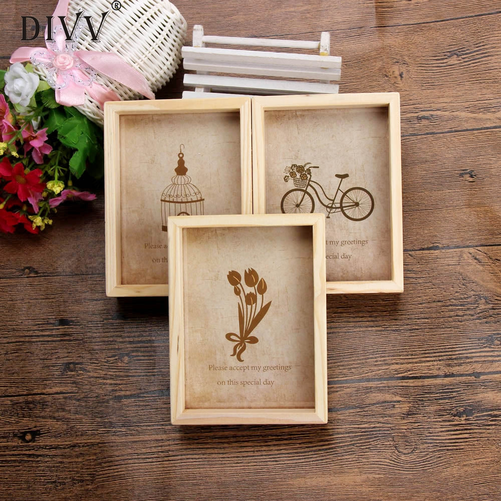 Cute Wooden Picture Frame - windypebble