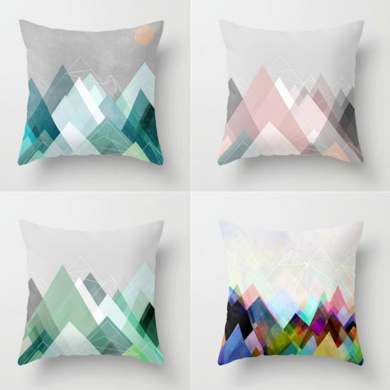 Colored Geometric Pillow Covers - windypebble