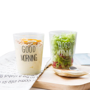 'Good Morning' Transparent Glass Cup - windypebble