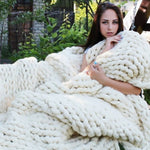 Cozy Hand Woven Blanket - windypebble