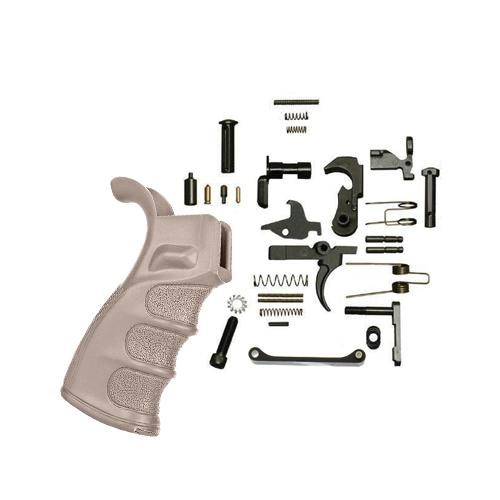 Ar-15 Lower Parts Kit with DMR Grip (FDE)