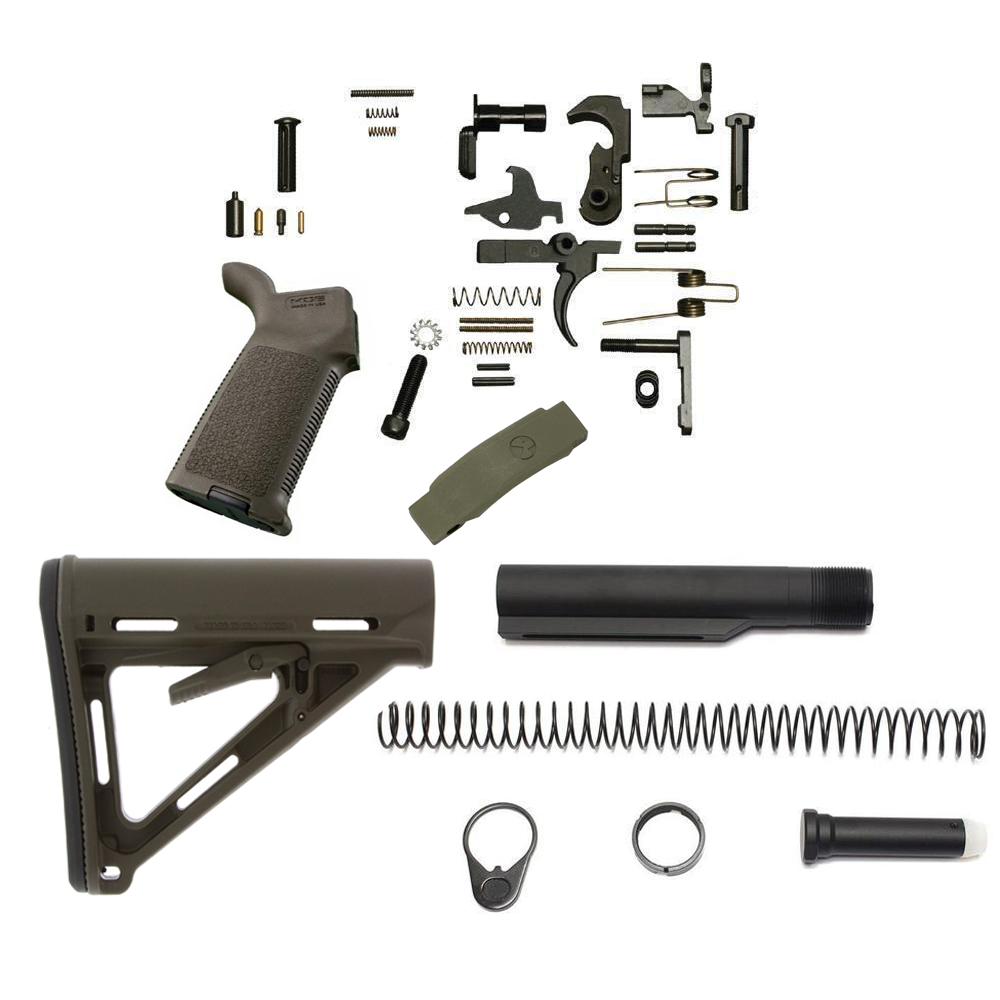 Magpul MOE Lower Build Kit For AR-15 (OD Green)