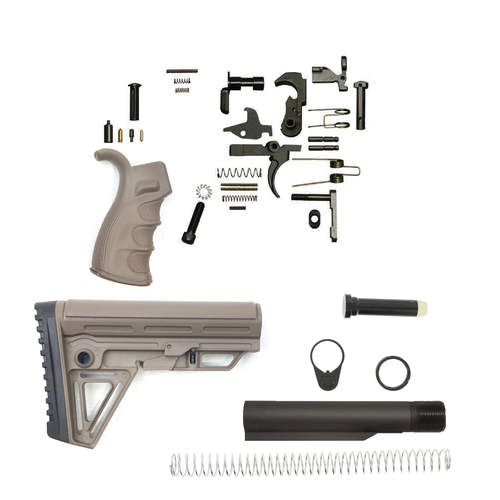 Alpha Lower Build Kit For Ar-15 (FDE)