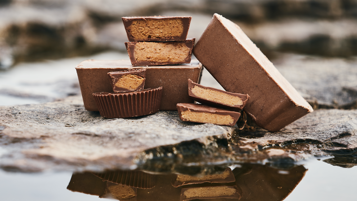 Chocolate Peanut Butter Cup Keto Brick
