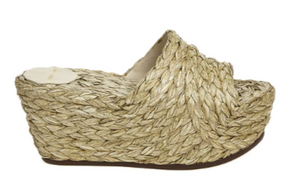 Estilo Emporio Braided Wedge - Natural - LUXAMORE AUSTRALIA