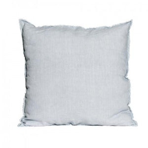Square Linen Cushion with Frayed Edge Detail - LUXAMORE AUSTRALIA