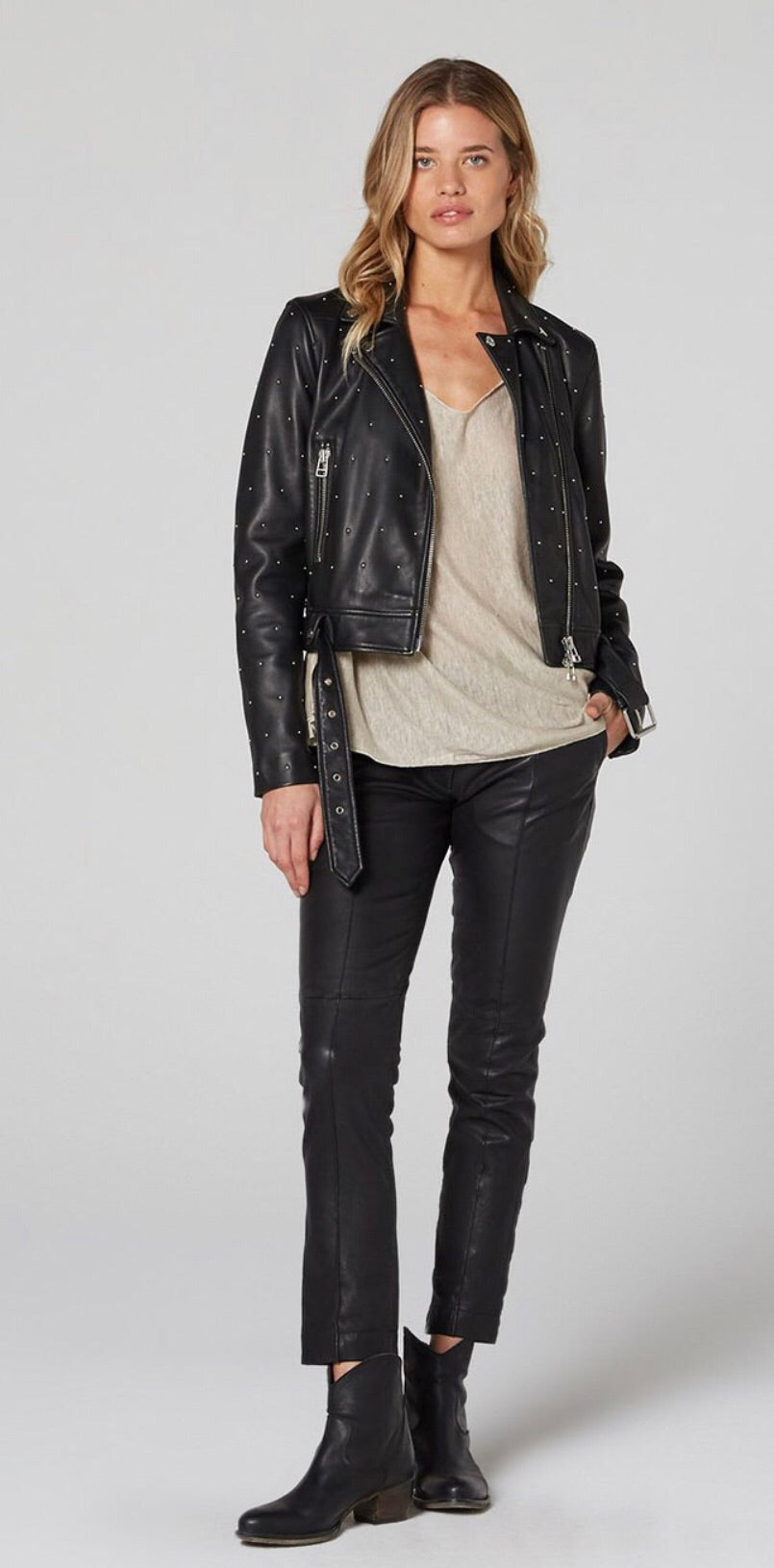 Estilo Emporio Tailor Leather Pants Black - LUXAMORE AUSTRALIA