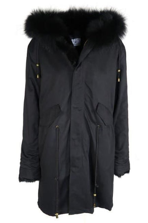 Mode and Affaire Washington Parka - Ink - LUXAMORE AUSTRALIA