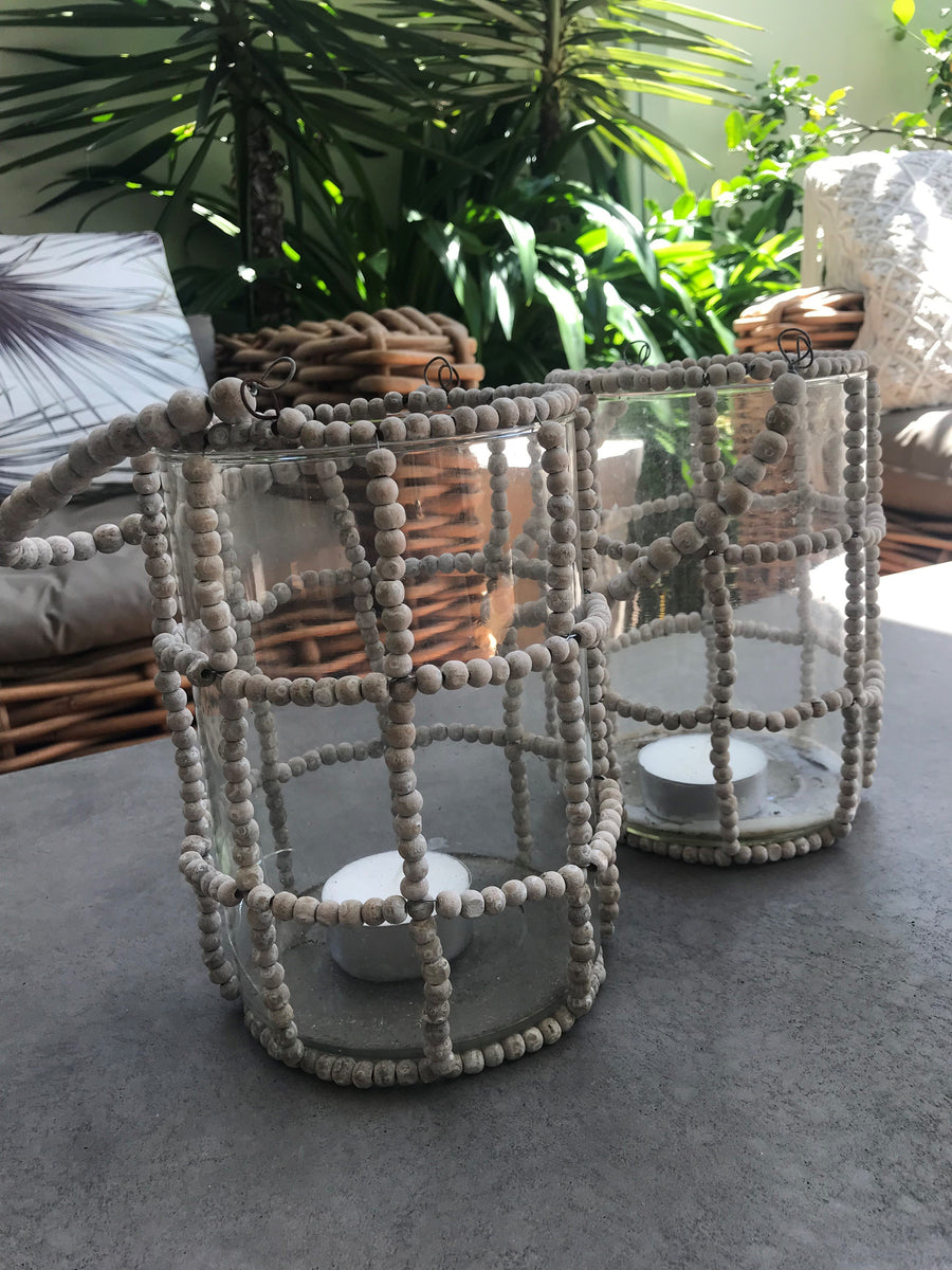 Ceramic Ball Lantern with Glass Insert - LUXAMORE AUSTRALIA
