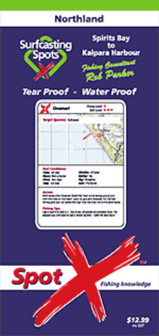 Spot-X Surfcasting Map - Northland