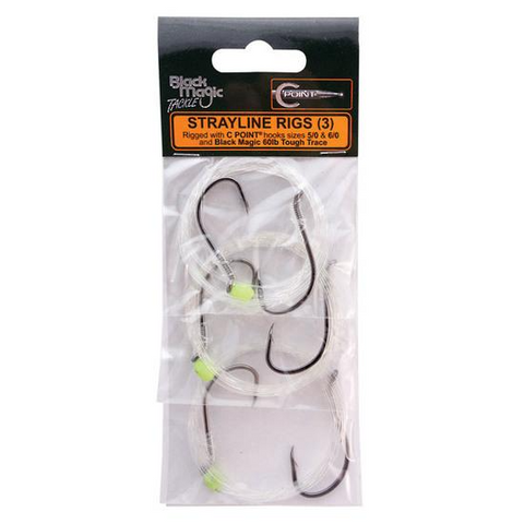 Black Magic Strayline Rig With CP6/0 & CP7/0 Hooks