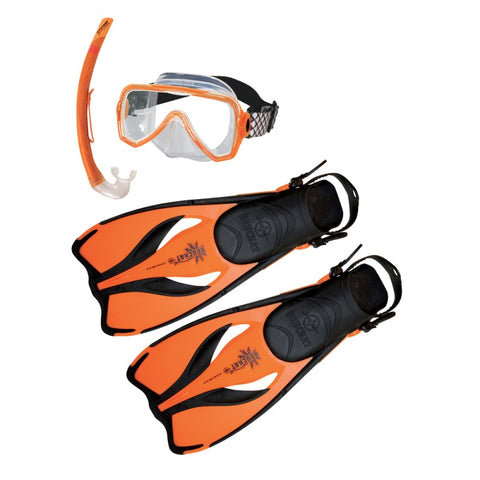 Beuchat Mask, Snorkel and Fin Set - Junior