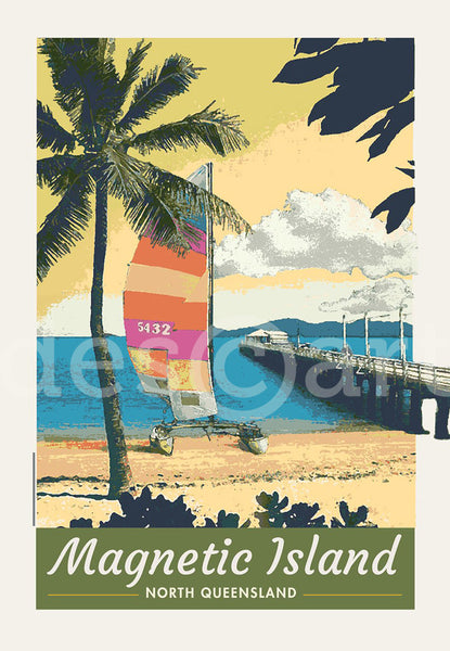 Picnic Bay, Magnetic Island, Townsville Poster with watermark