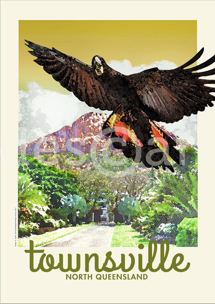 Townsville Poster 'Black Cockatoo' with watermark